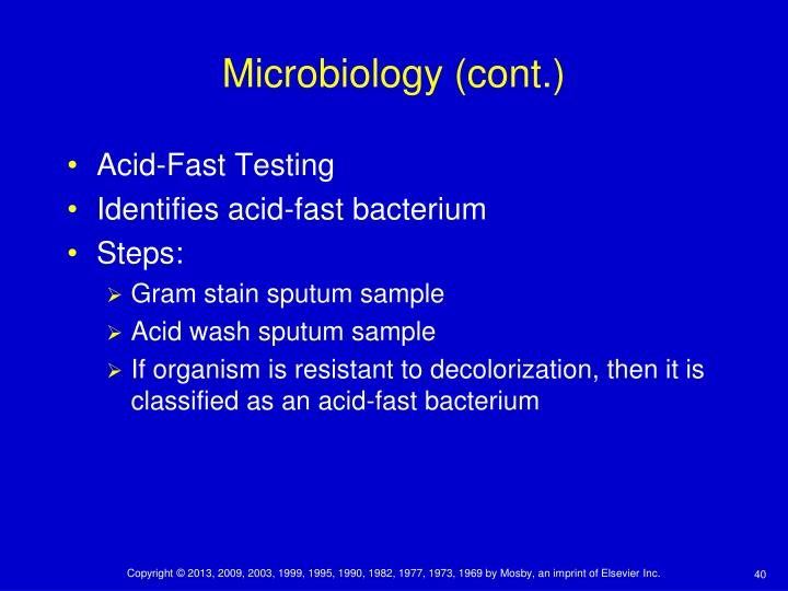 Microbiology (cont.)