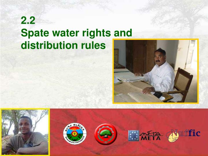 2 2 spate water rights and distribution rules
