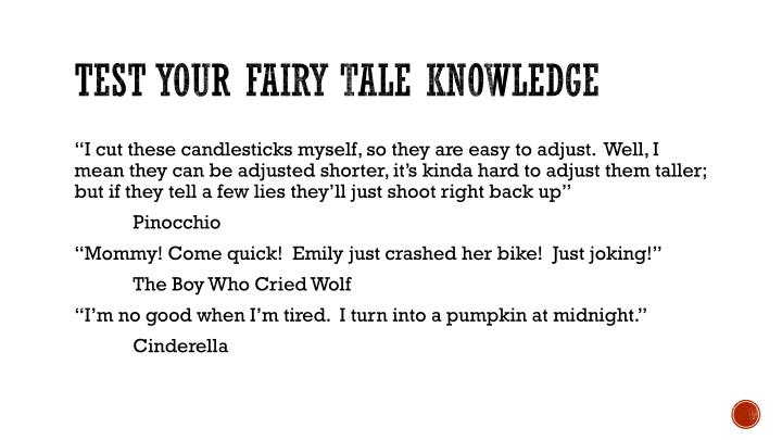 Test your fairy tale knowledge