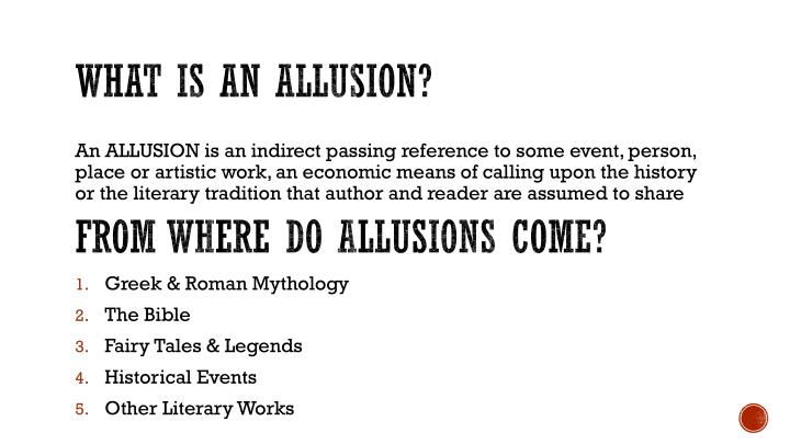 What is an allusion?