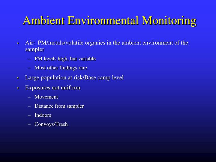 Ambient Environmental Monitoring