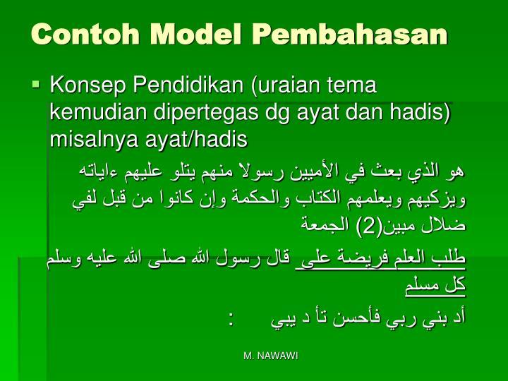 Contoh Model Pembahasan