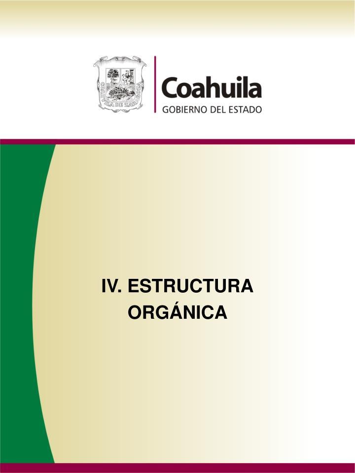 IV. ESTRUCTURA