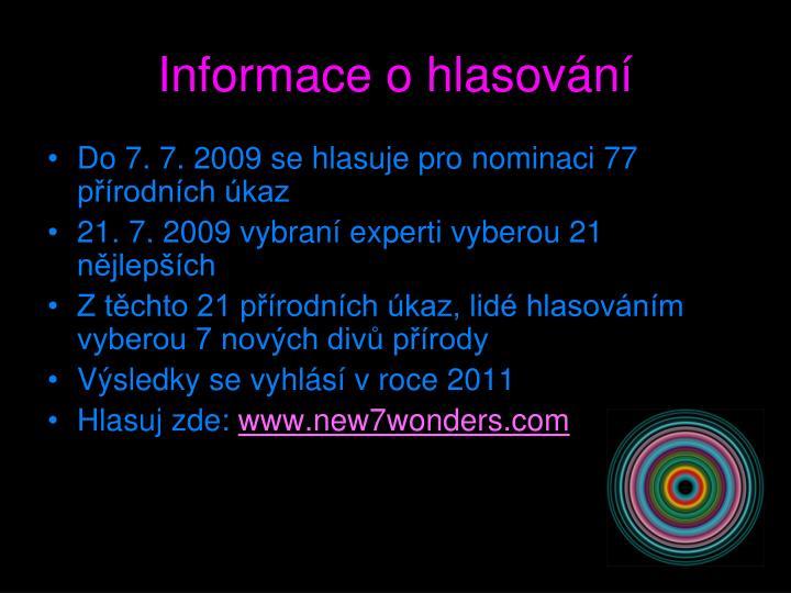 Informace o hlasování
