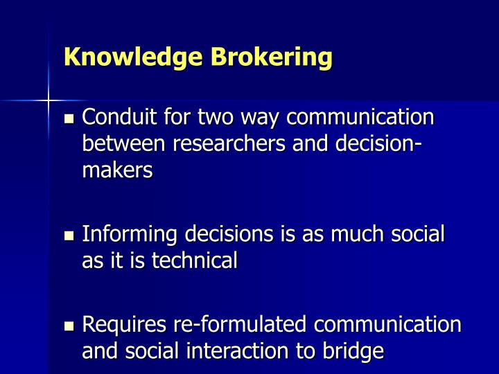 Knowledge Brokering