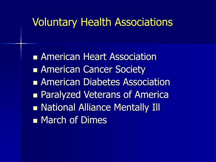 Voluntary Health Associations