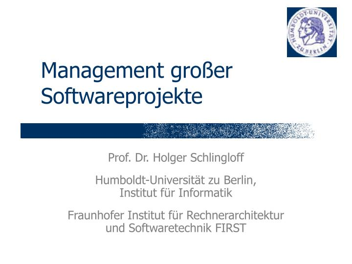Management gro er softwareprojekte