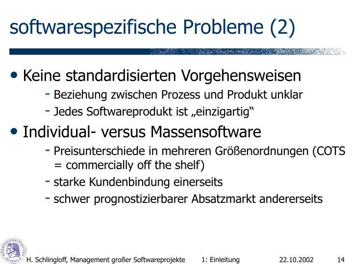 softwarespezifische Probleme (2)