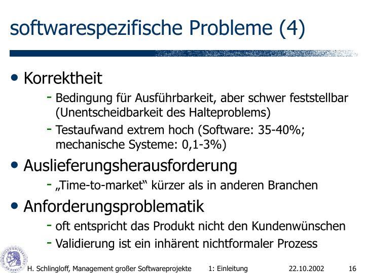 softwarespezifische Probleme (4)