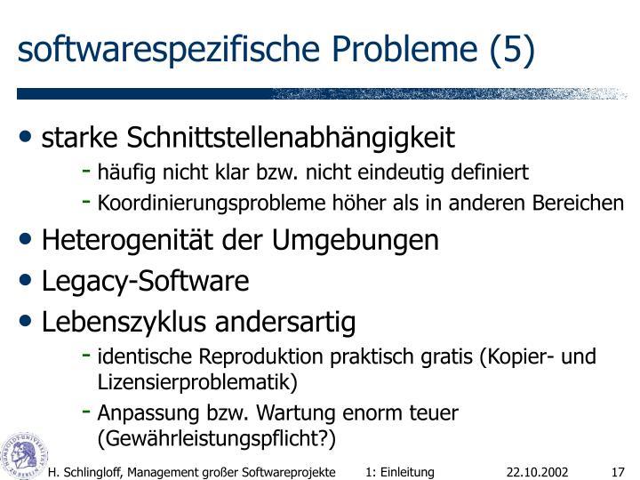 softwarespezifische Probleme (5)