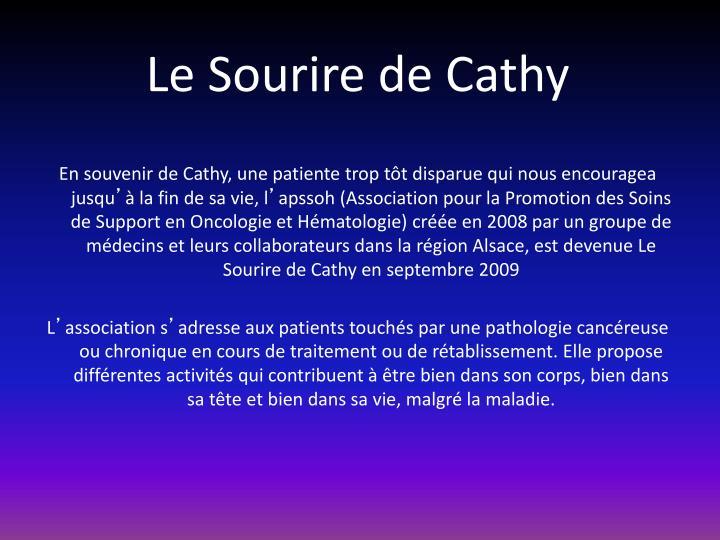 Le Sourire de Cathy