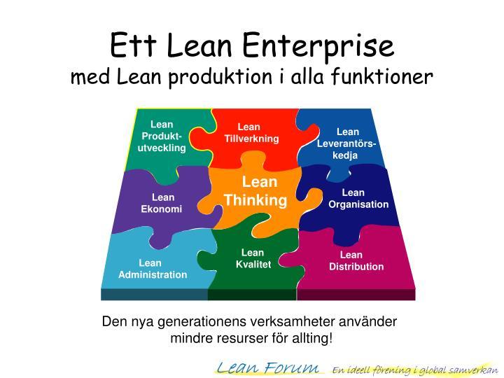 Ett Lean Enterprise