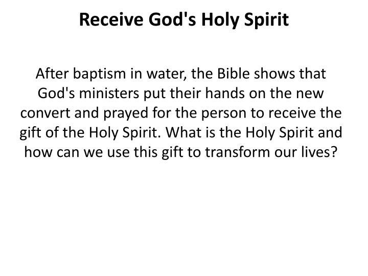 Receive God's Holy Spirit