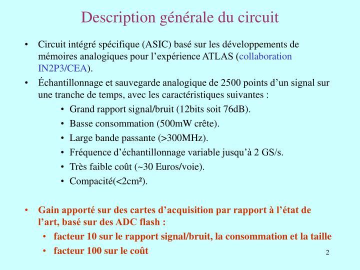 Description générale du circuit