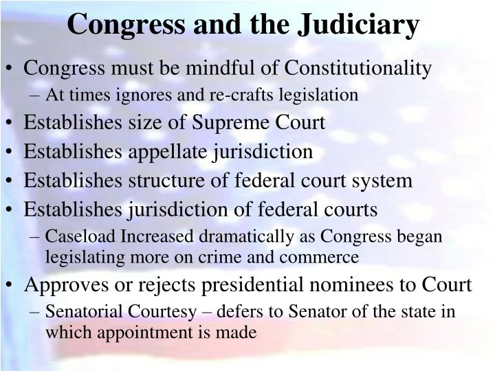 Congress and the Judiciary