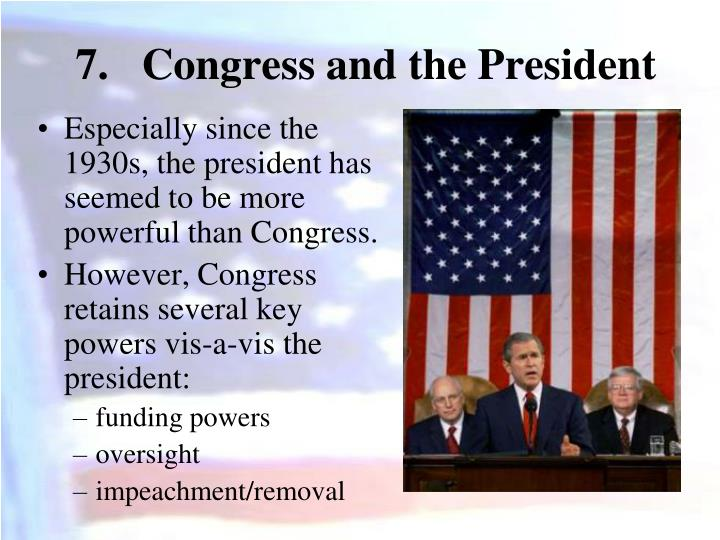 Congress and the President