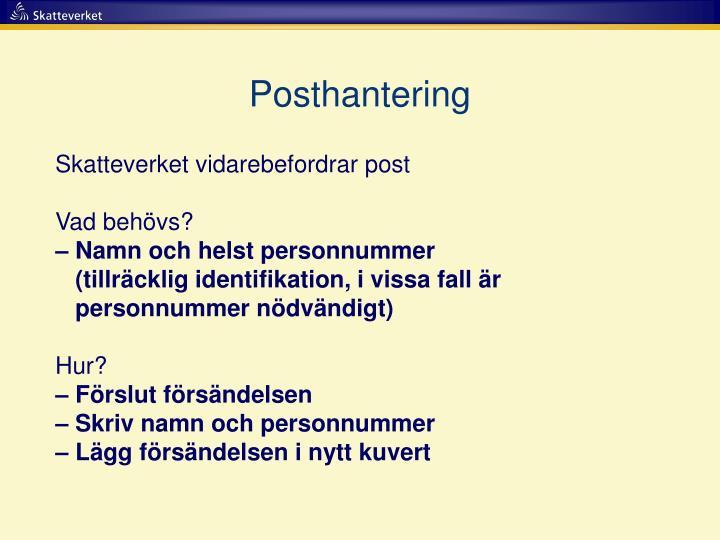 Posthantering