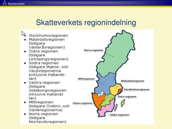 Skatteverkets regionindelning