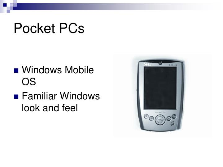 Pocket PCs