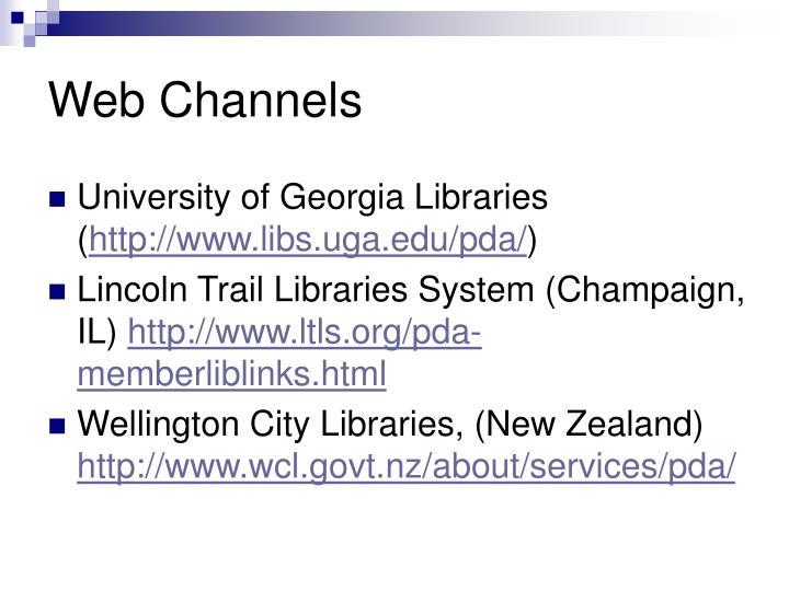 Web Channels