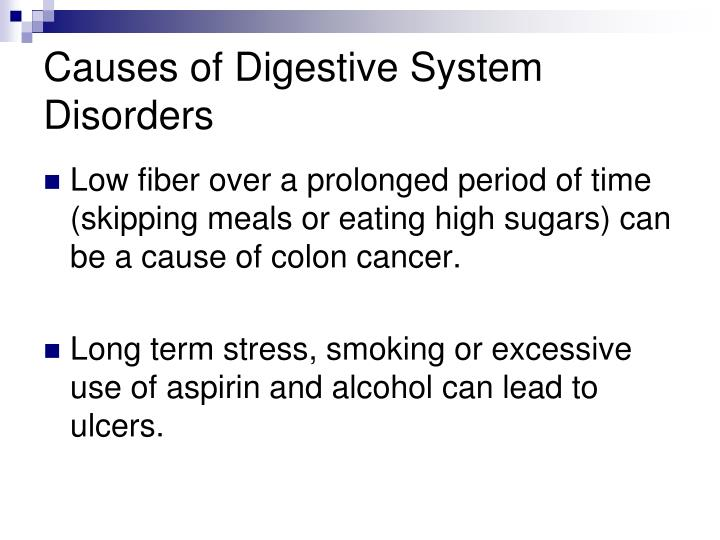 Causes of Digestive System Disorders