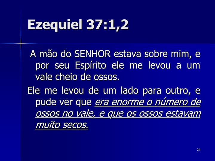 Ezequiel 37:1,2
