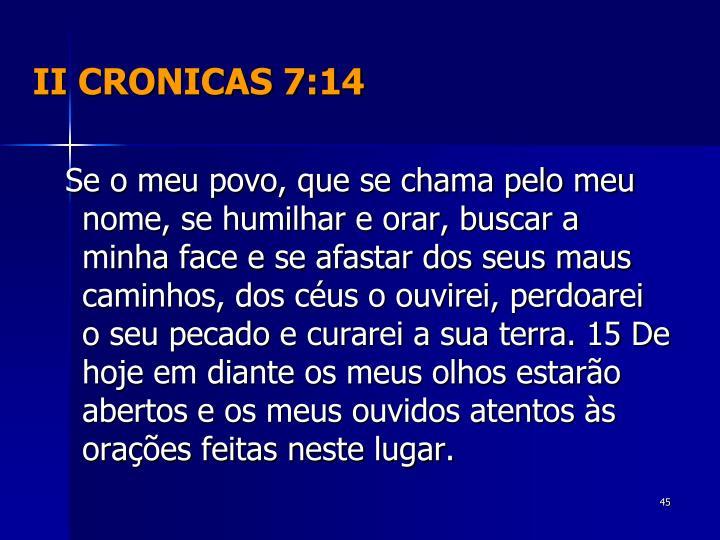 II CRONICAS 7:14