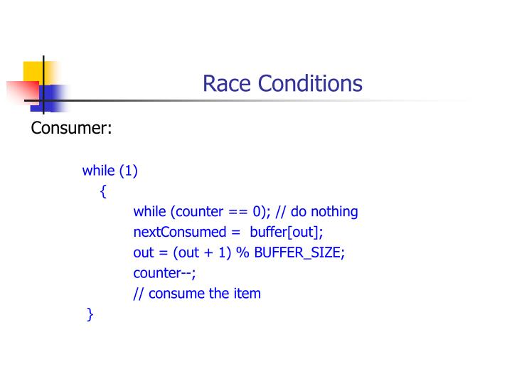 Race conditions1