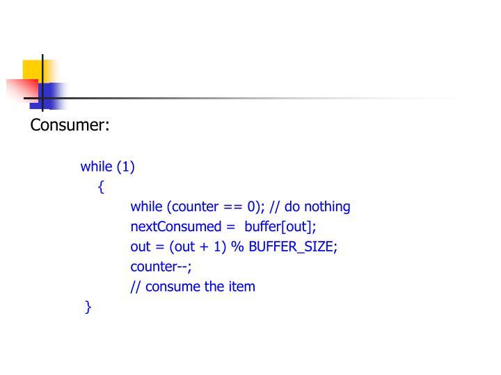 Consumer: