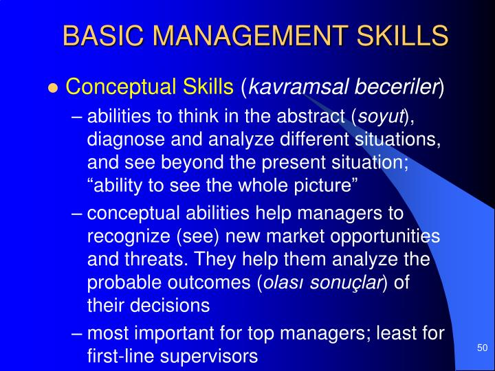 BASIC MANAGEMENT SKILLS