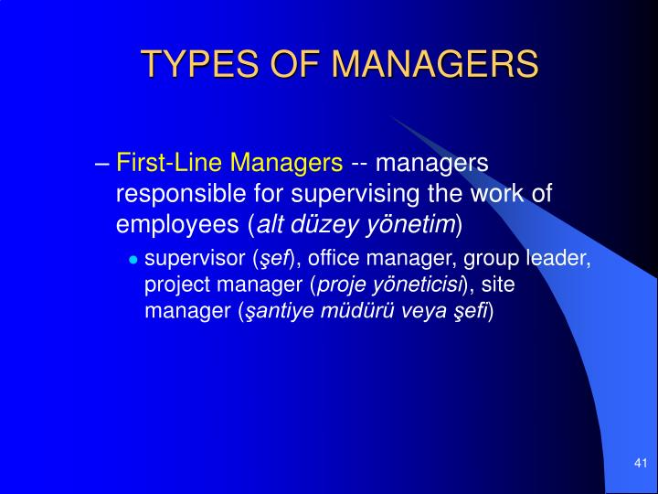 TYPES OF MANAGERS