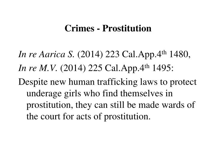 Crimes - Prostitution