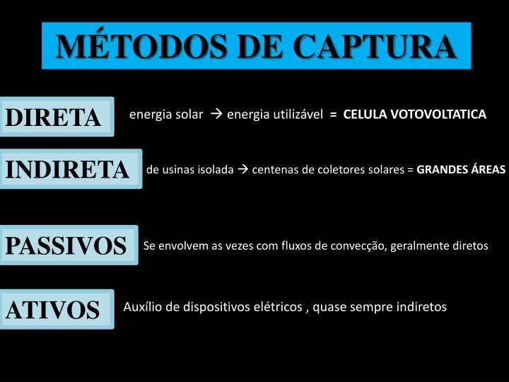 MÉTODOS DE CAPTURA