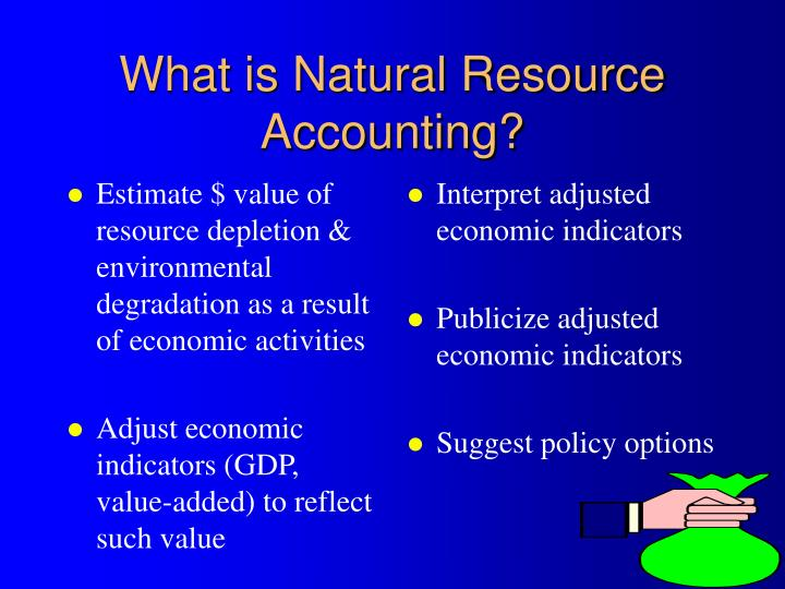 Estimate $ value of resource depletion & environmental degradation as a result of economic activities