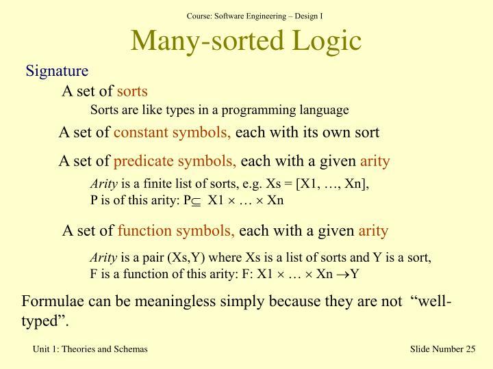 Many-sorted Logic
