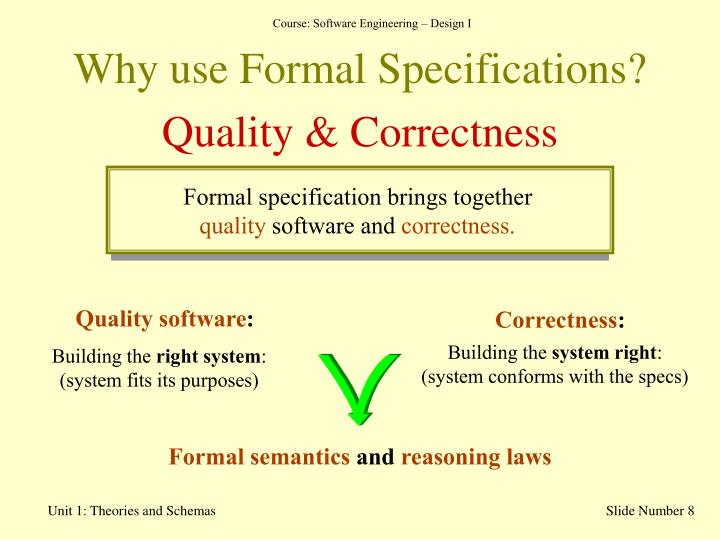 Why use Formal Specifications?