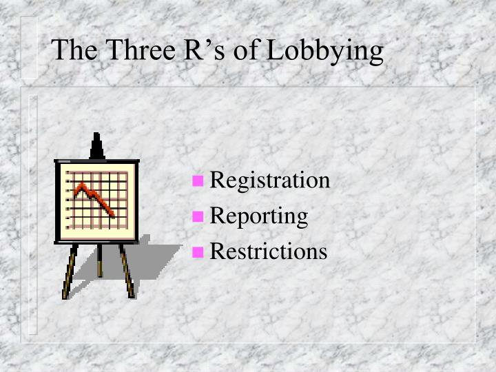 The Three R's of Lobbying