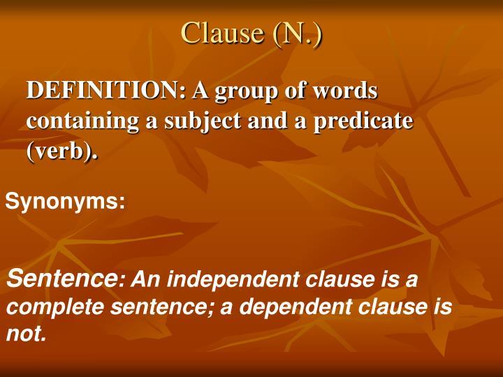 Clause (N.)