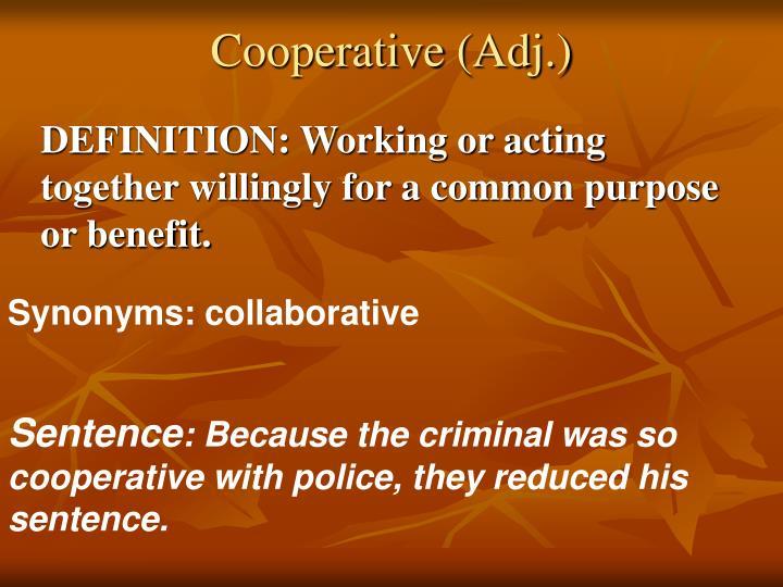 Cooperative (Adj.)