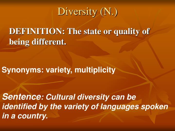 Diversity (N.)