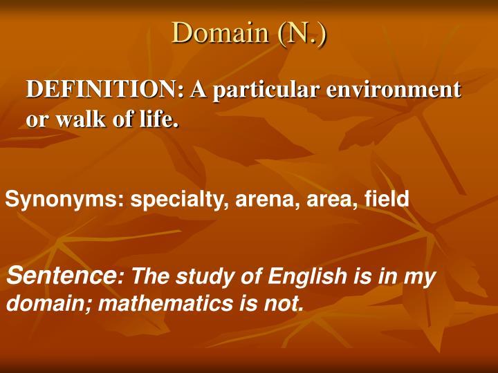 Domain (N.)