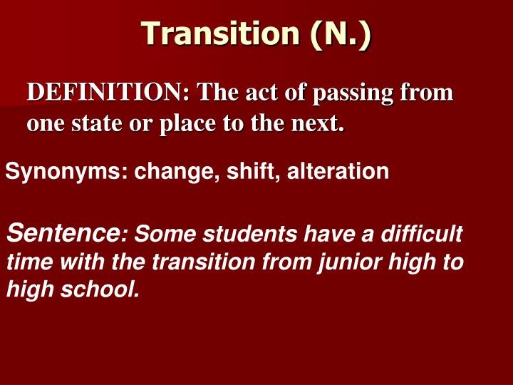 Transition (N.)