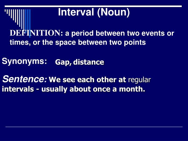 Interval (Noun)