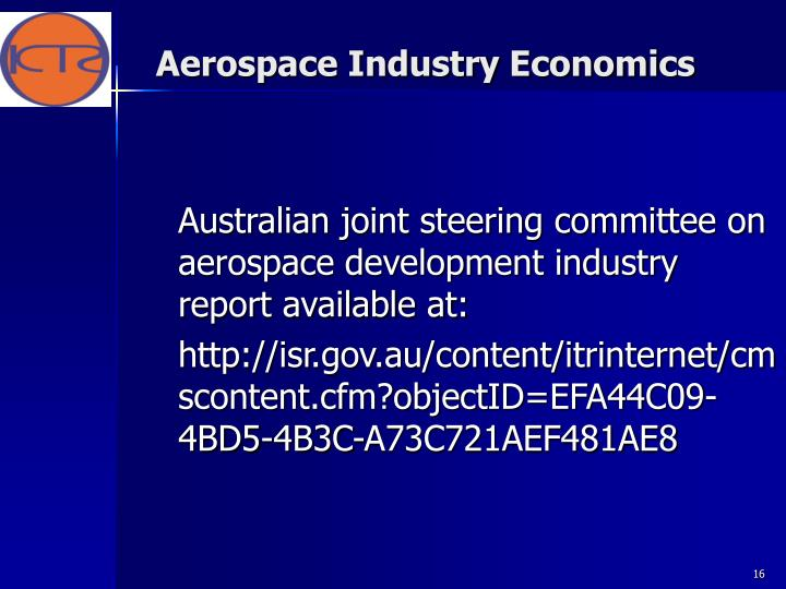 Aerospace Industry Economics