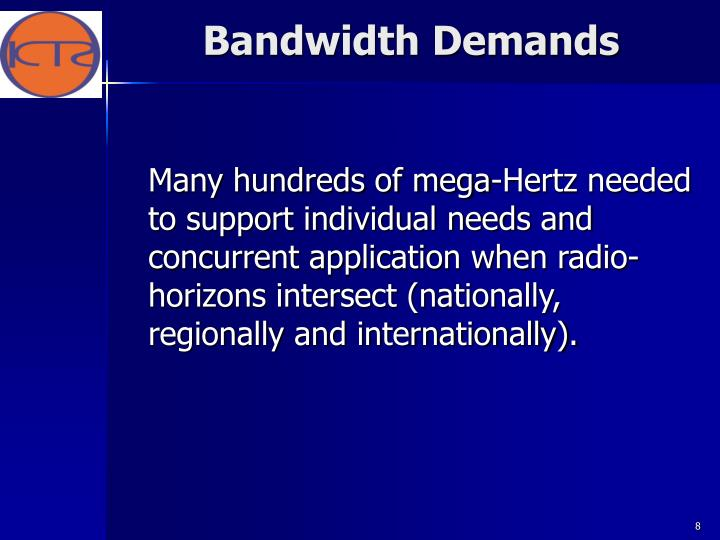 Bandwidth Demands