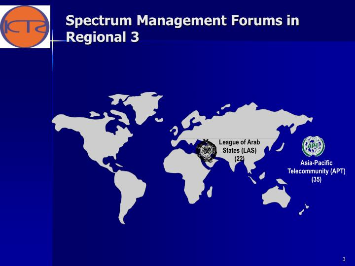 Spectrum management forums in regional 3