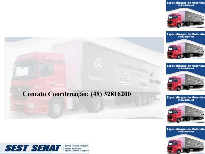 Contato Coordenação: (48) 32816200