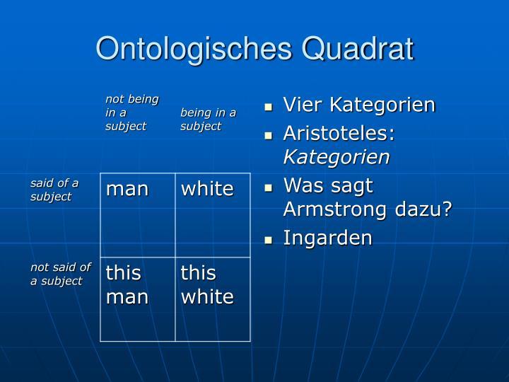 Ontologisches Quadrat
