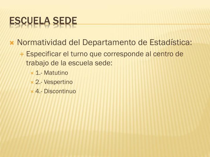 Normatividad del Departamento de Estadística: