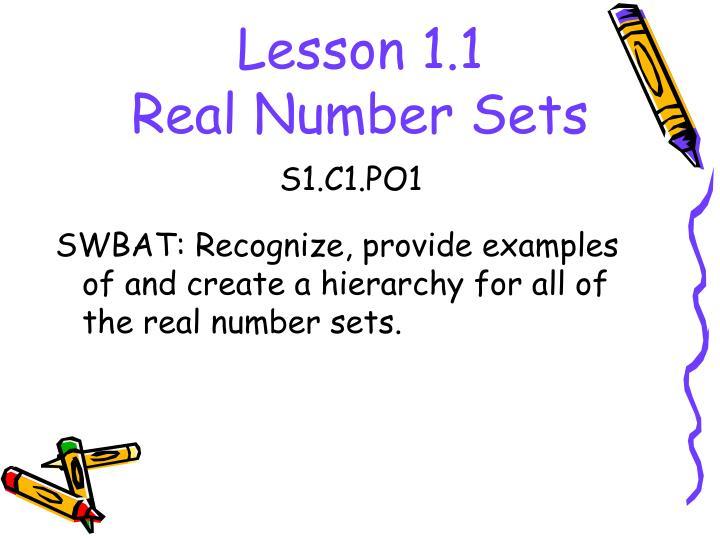 Lesson 1.1